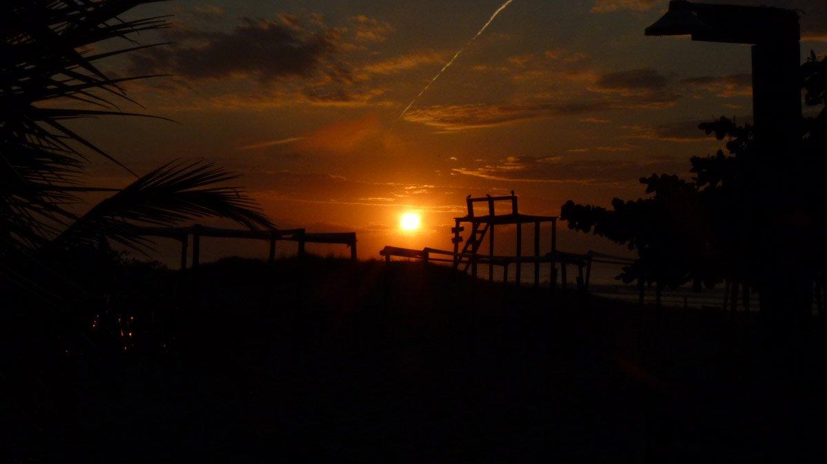 Nascer do sol a partir da nossa barraca